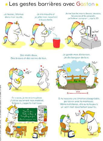 licorne-ecole-maitresse-apprendre-gestes-barrieres